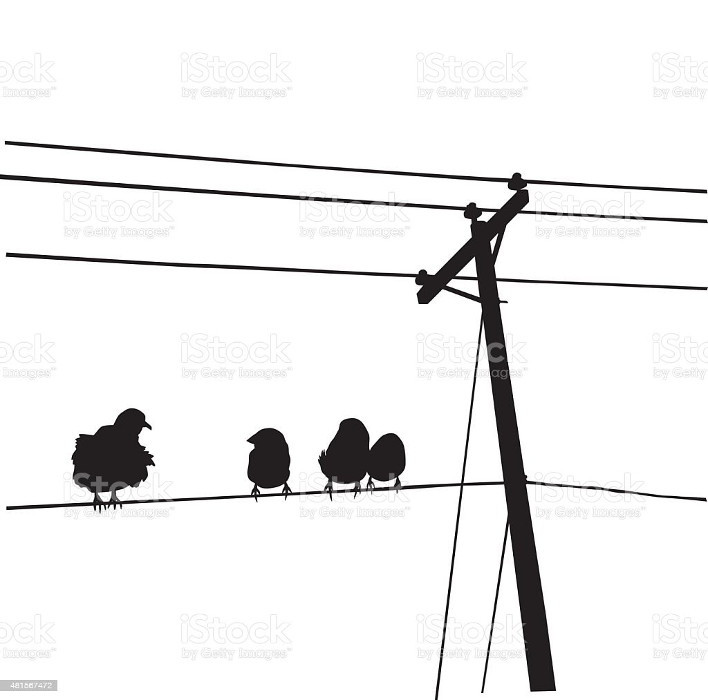 Hey There Lonely Bird vector art illustration