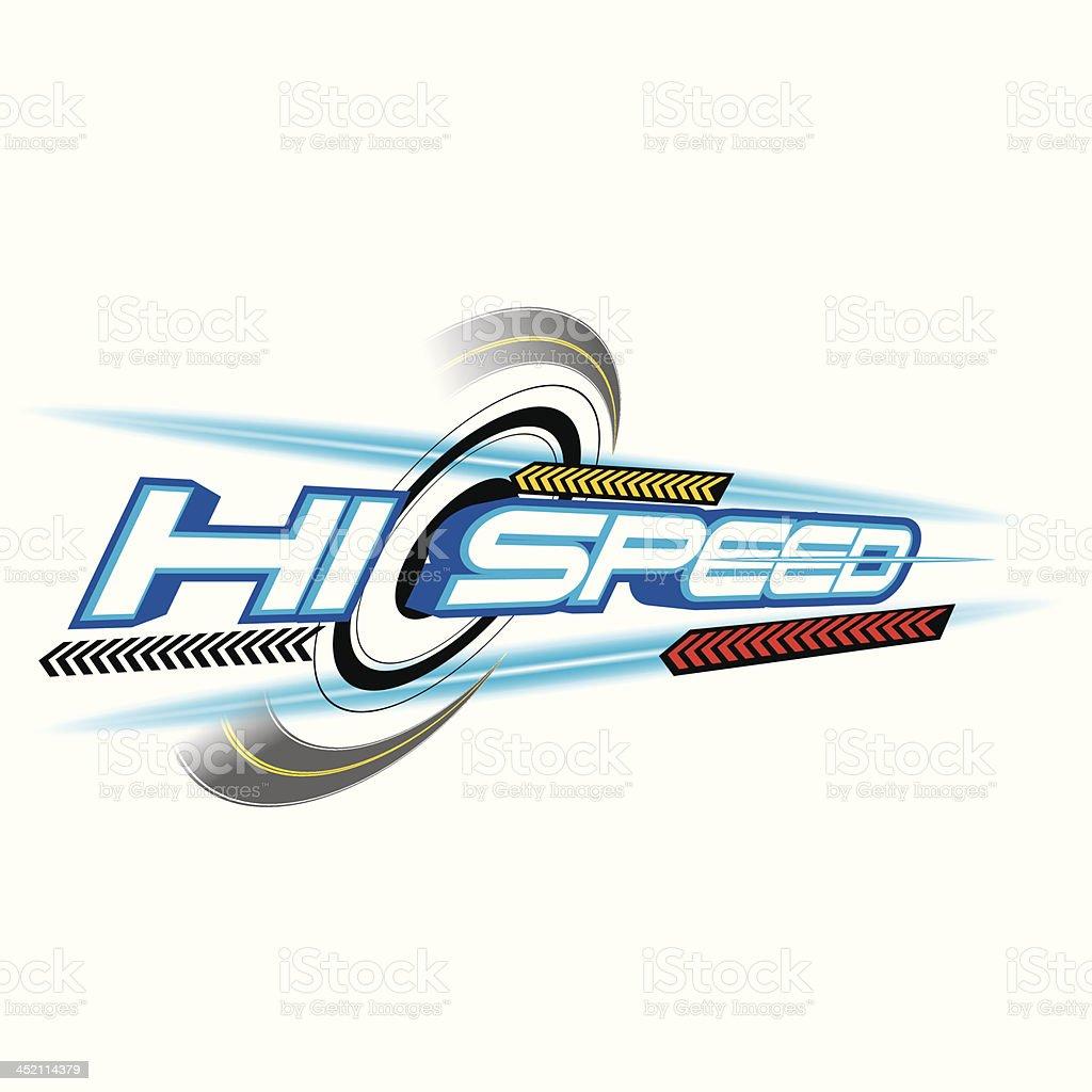 Hi Speed Concept vector vector art illustration