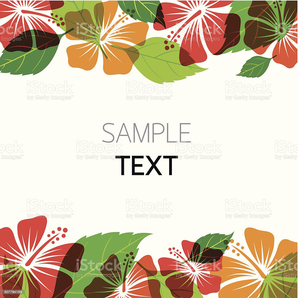 Hibiscus Background vector art illustration