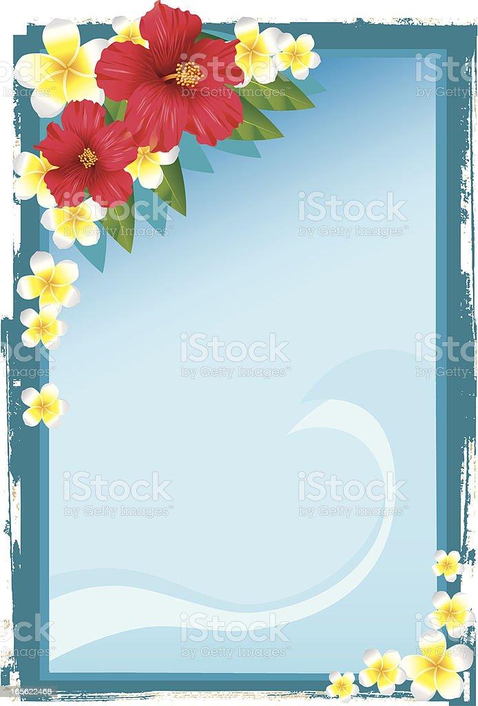 Hibiscus Border vector art illustration