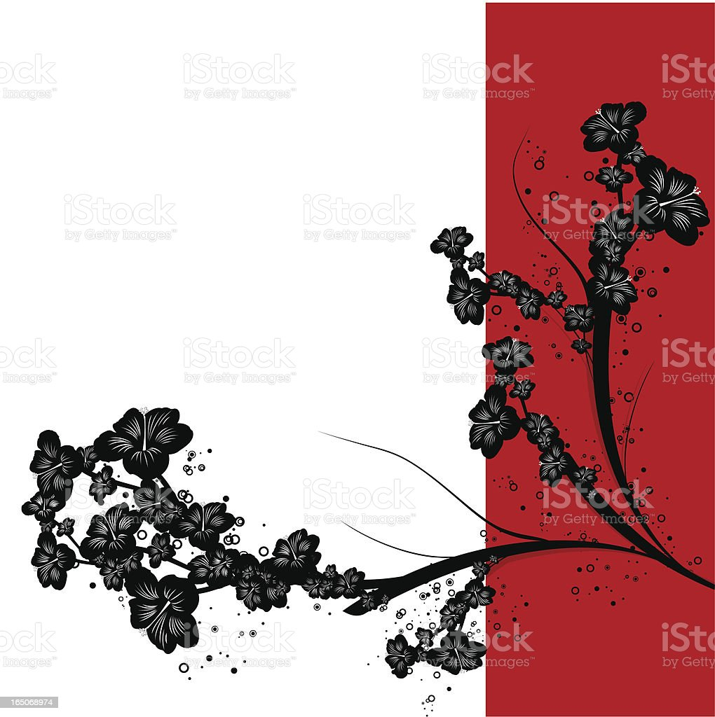 Hibiscus floral royalty-free stock vector art
