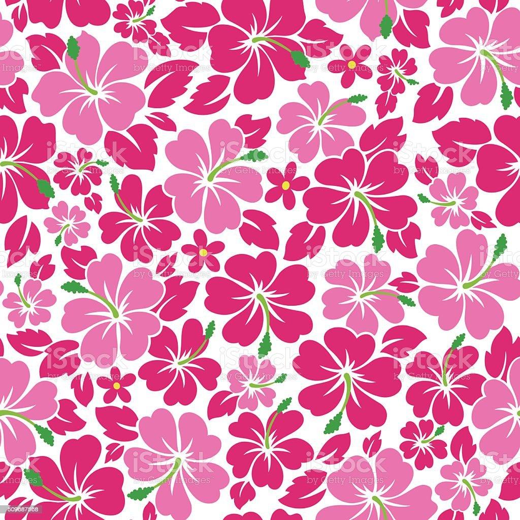 Hibiscus flower pattern vector art illustration