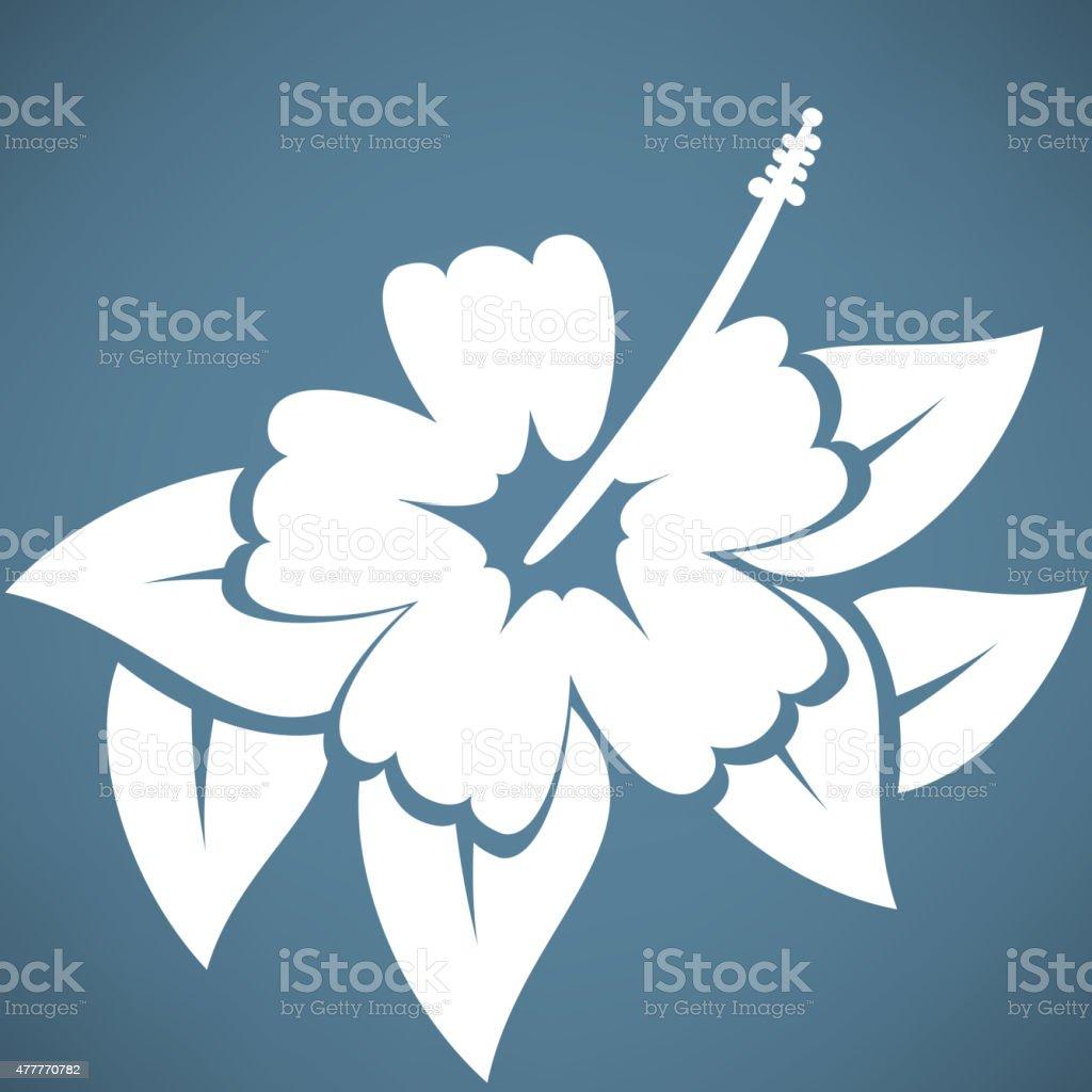 Hibiscus flower vector art illustration