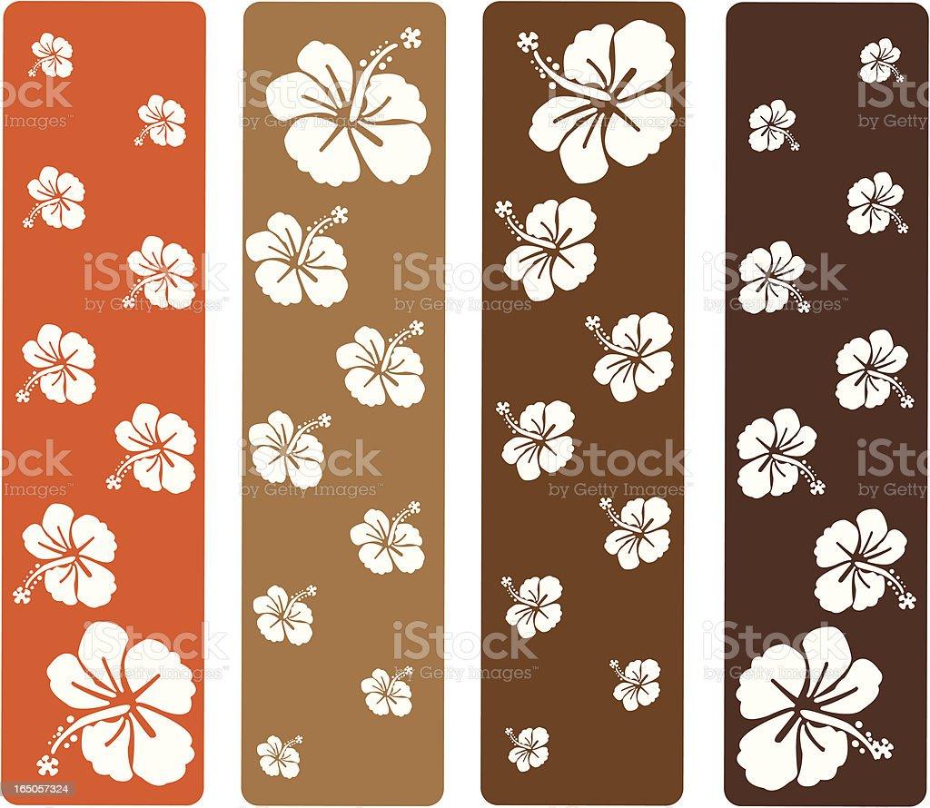 Hibiscus Flowers royalty-free stock vector art