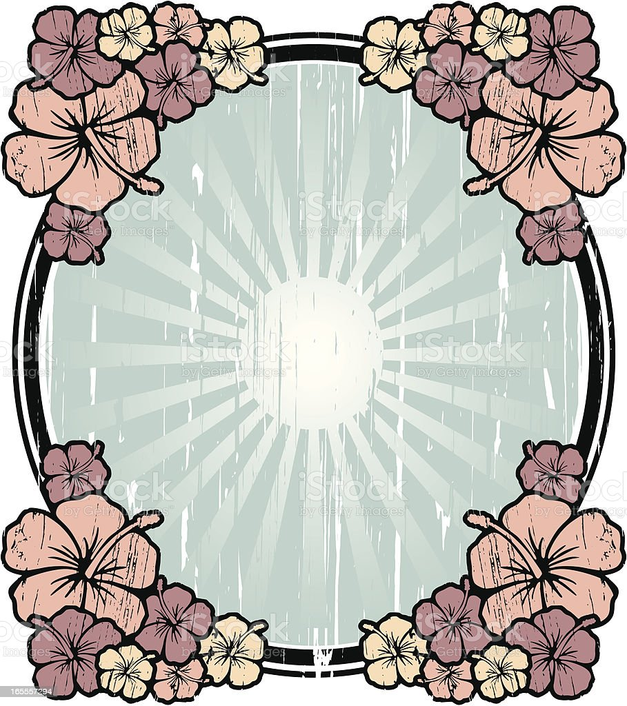 hibiscus frame royalty-free stock vector art