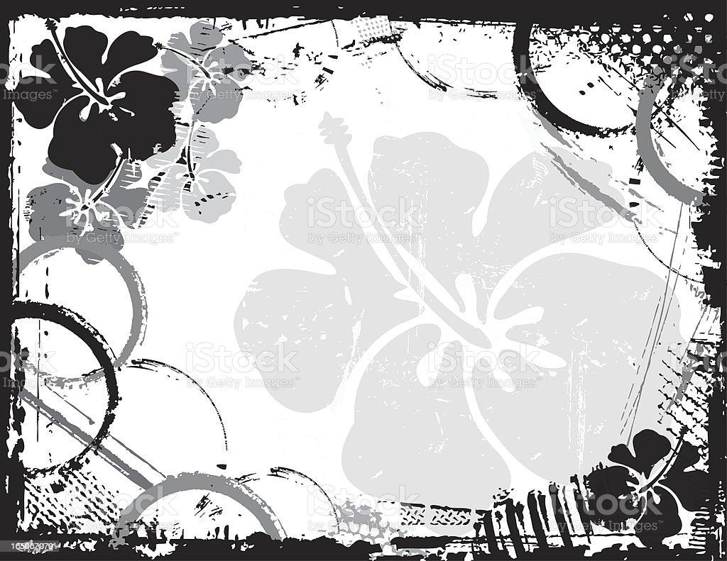 Hibiscus Grunge royalty-free stock vector art