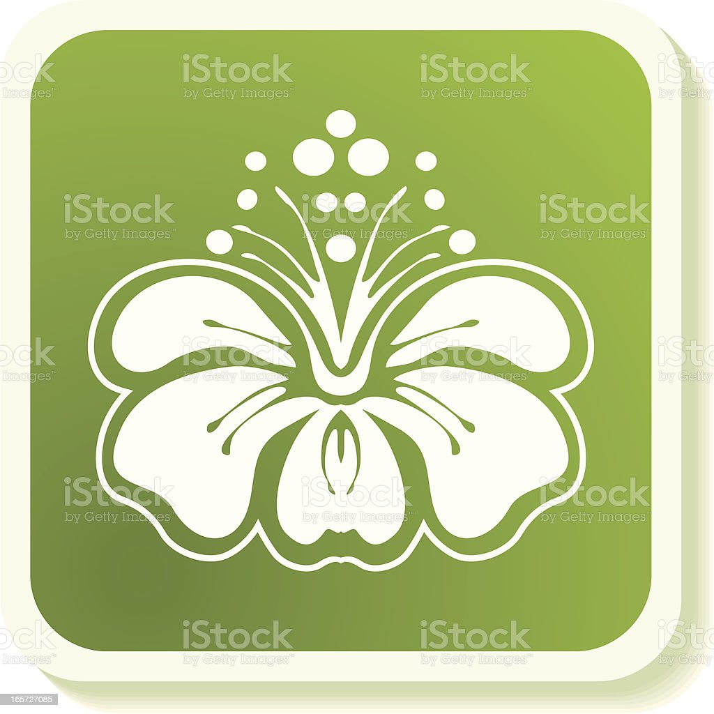 Hibiscus icon royalty-free stock vector art