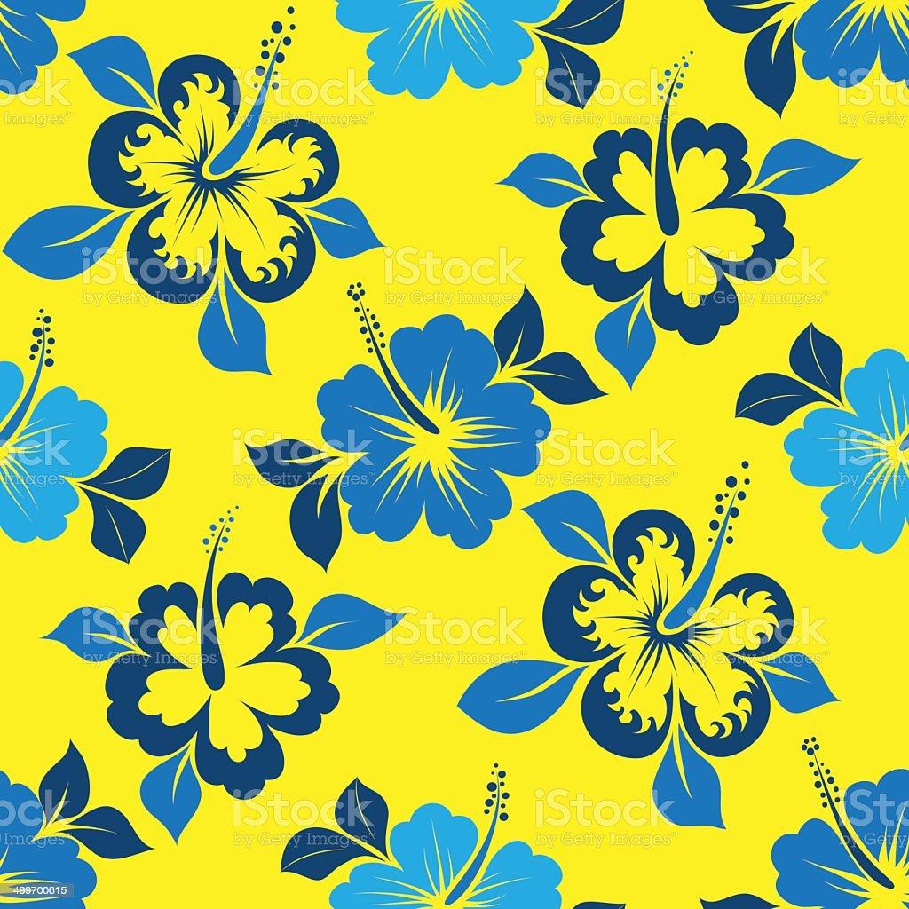 hibiskus pattern royalty-free stock vector art
