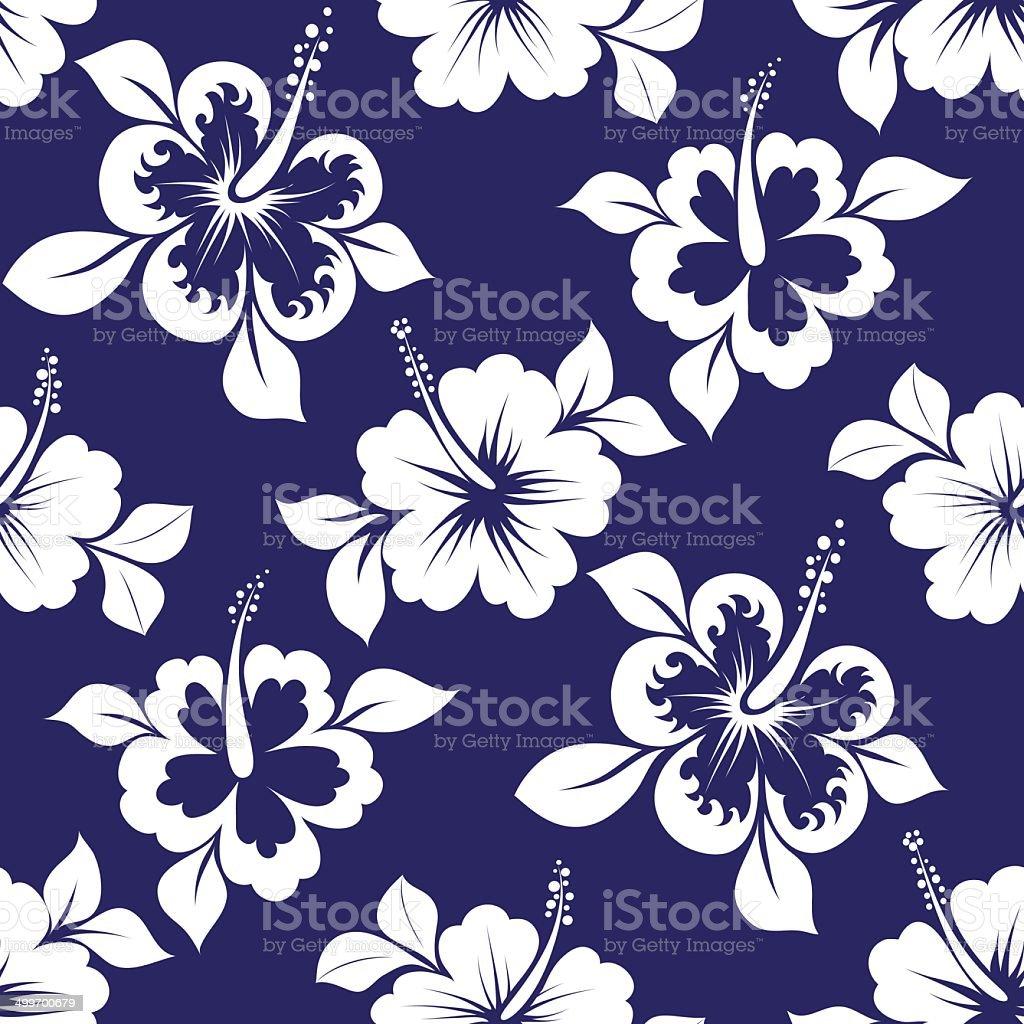 hibiskus seamless pattern royalty-free stock vector art