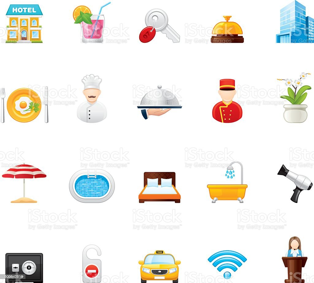 Hico icons — Hotel and Resort vector art illustration
