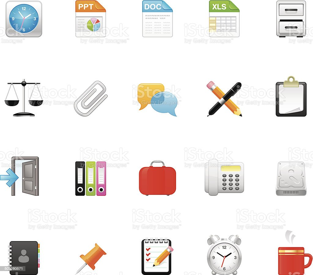 Hico icons — Paperwork vector art illustration