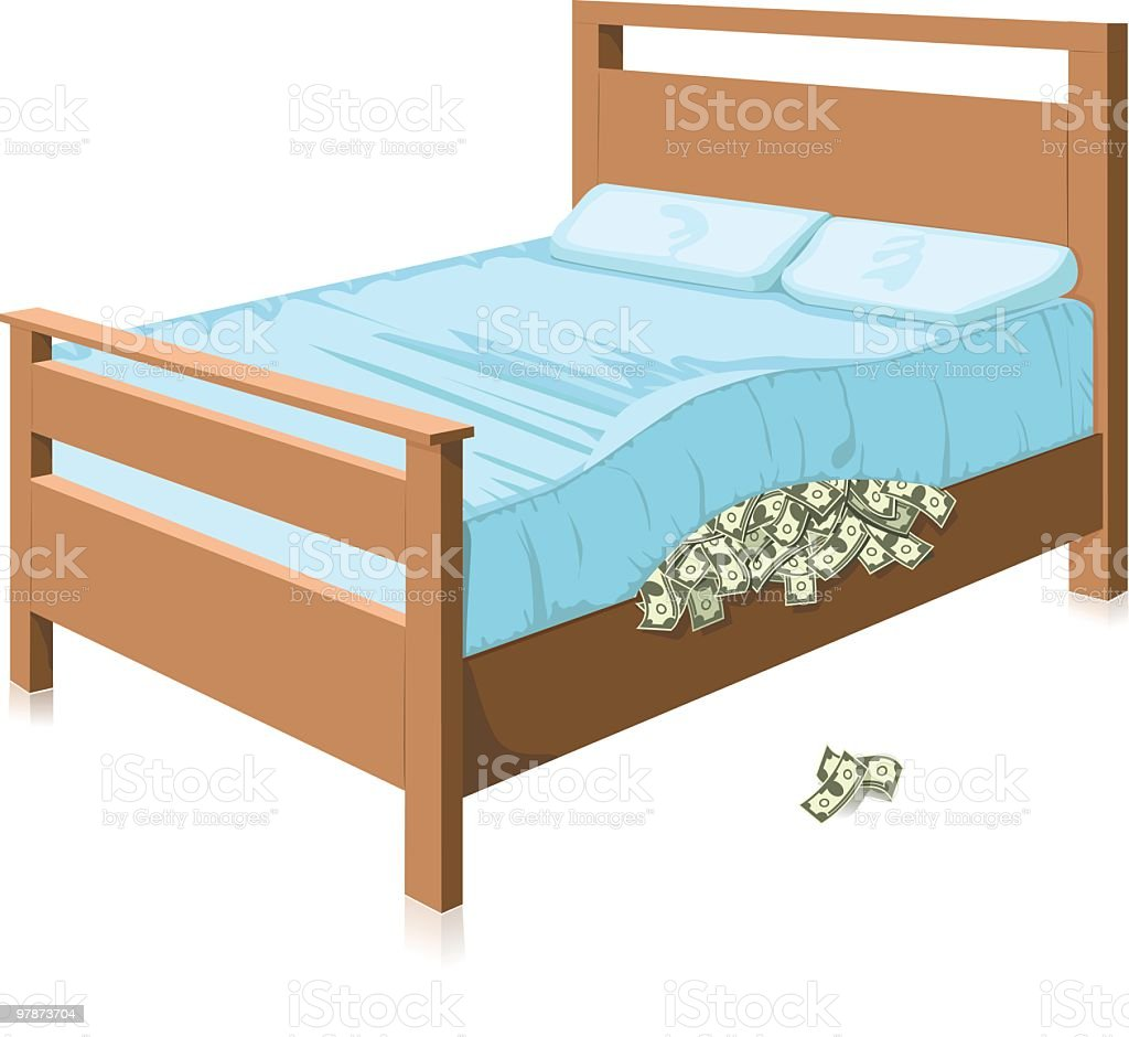 Hiding cash royalty-free stock vector art