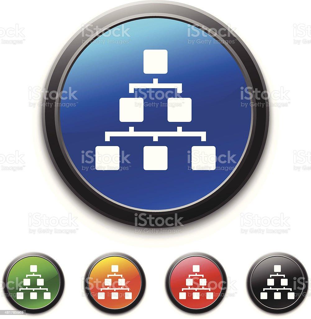 Hierarchy icon royalty-free stock vector art