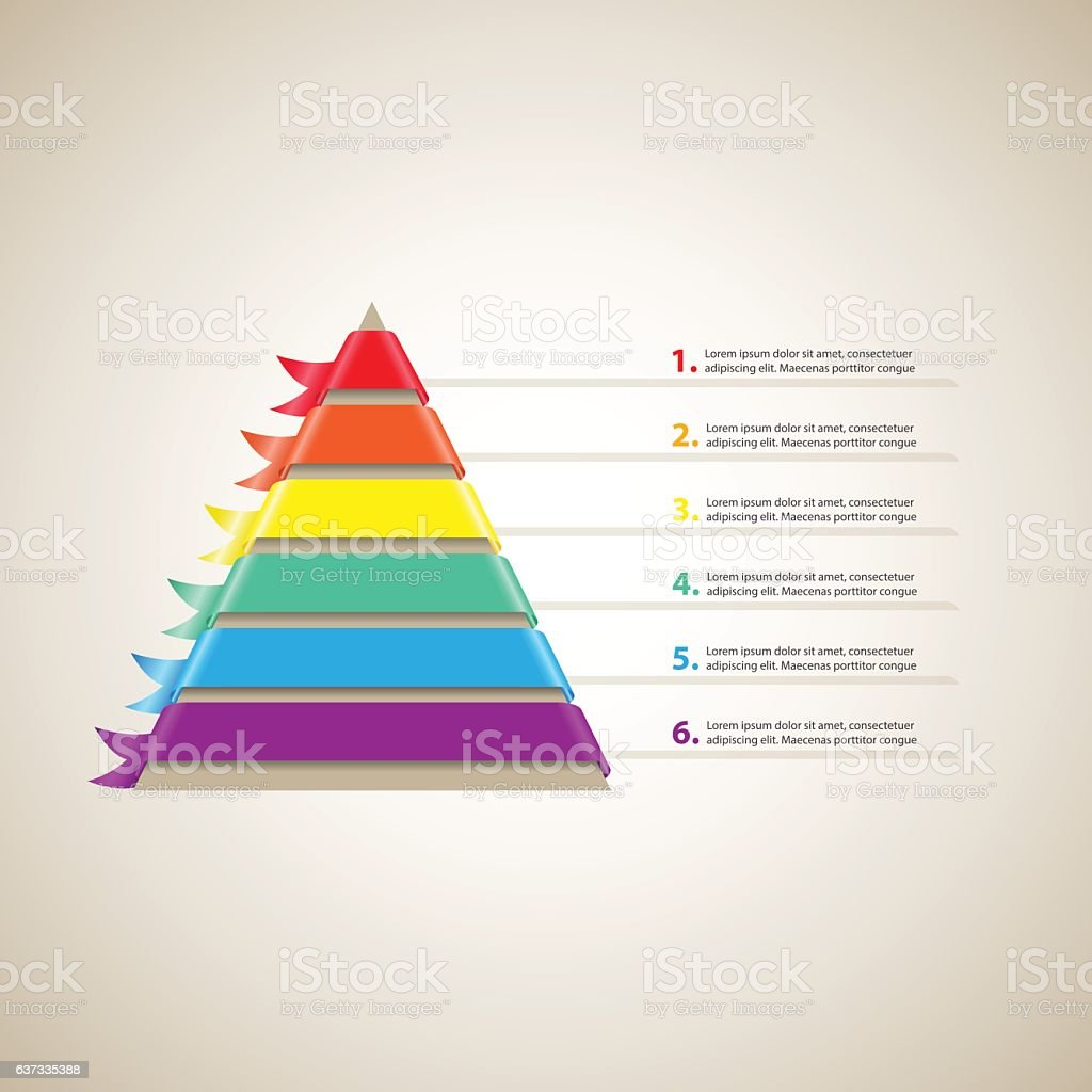Hierarchy of Needs Pyramid vector art illustration