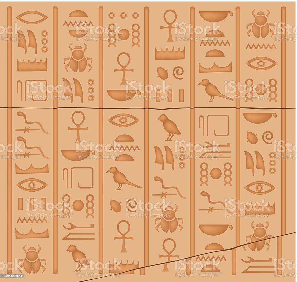 Hieroglyphs royalty-free stock vector art