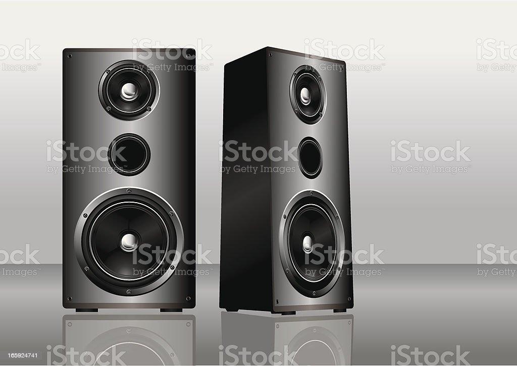 Hi-fi speakers vector art illustration