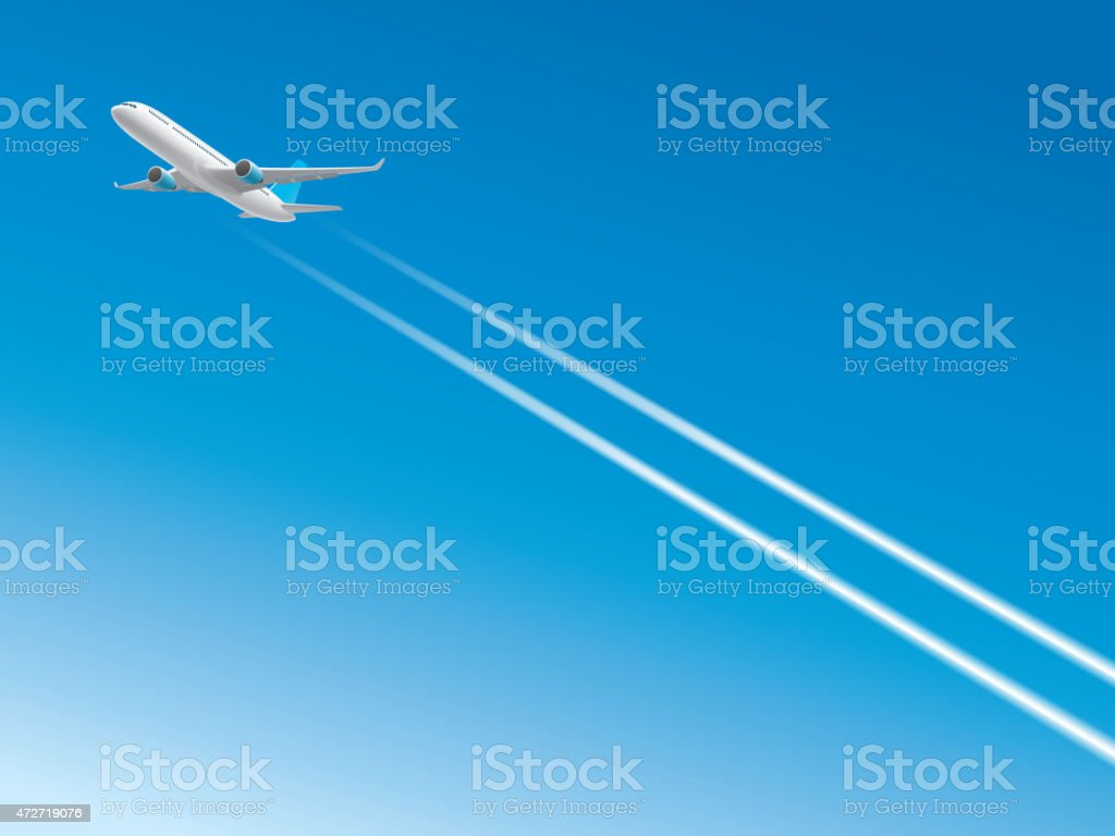 High altitude aircraft vector art illustration