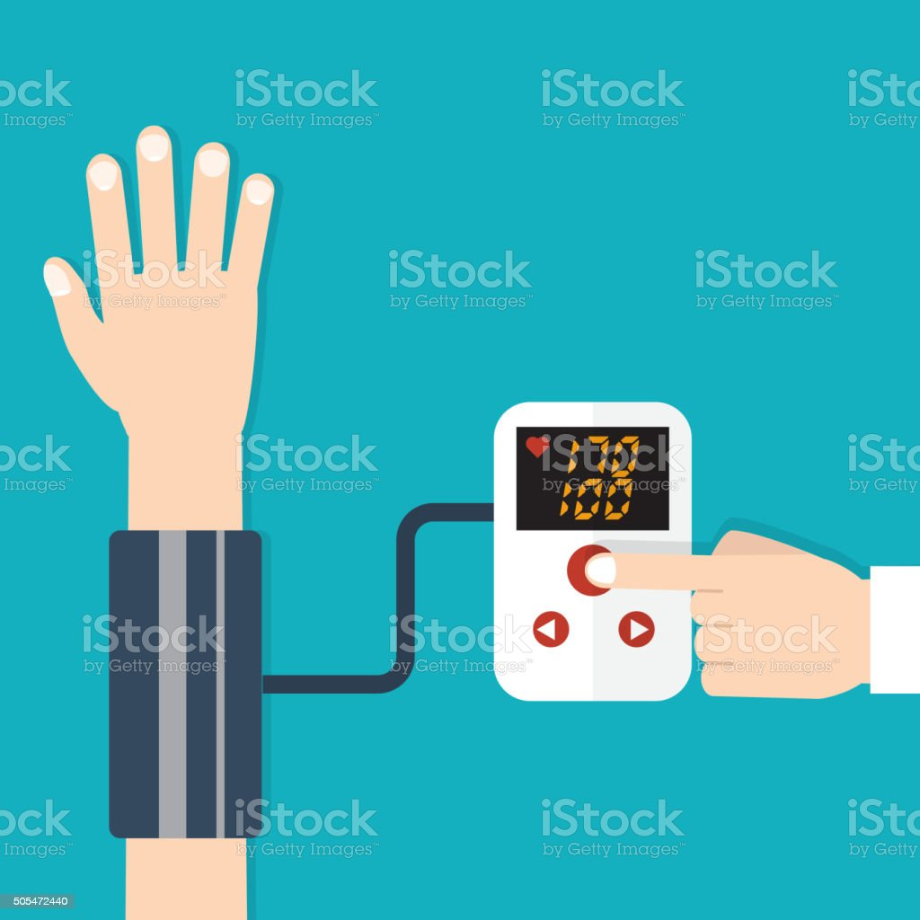 High blood pressure concept vector vector art illustration