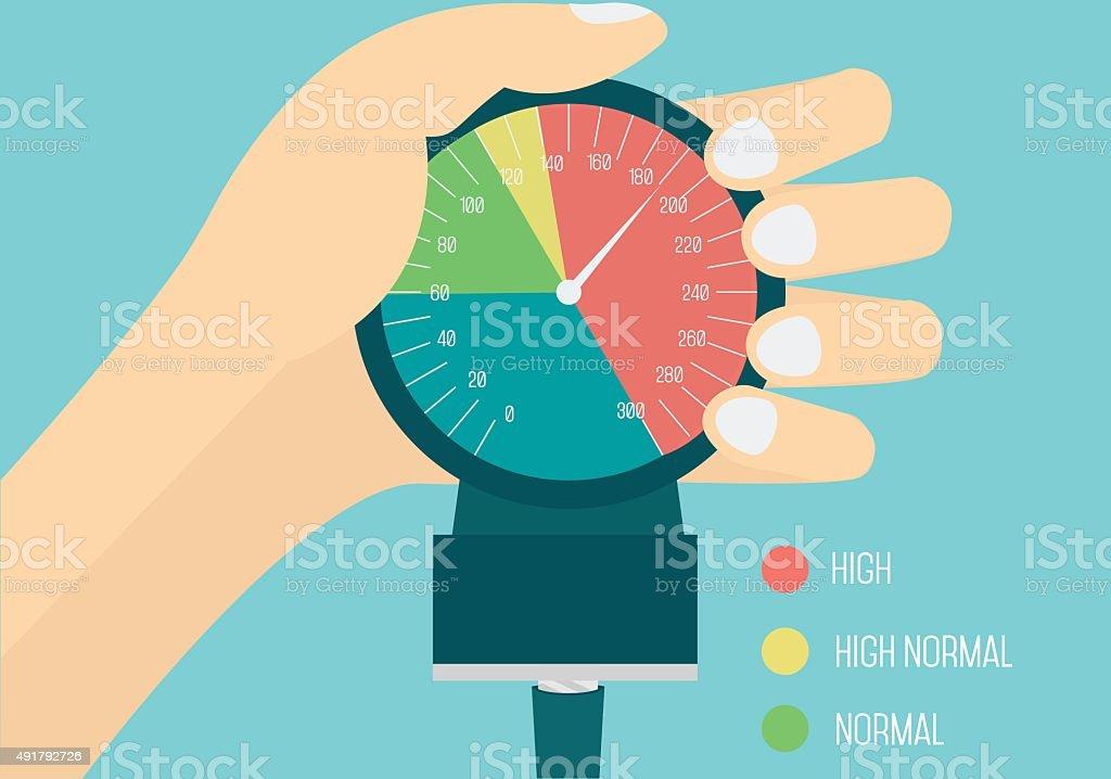 High blood pressure conceptual illustration. vector art illustration
