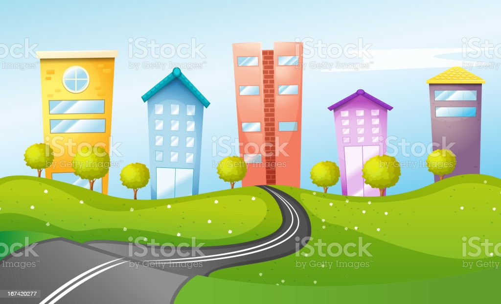 High buildings in the city royalty-free stock vector art