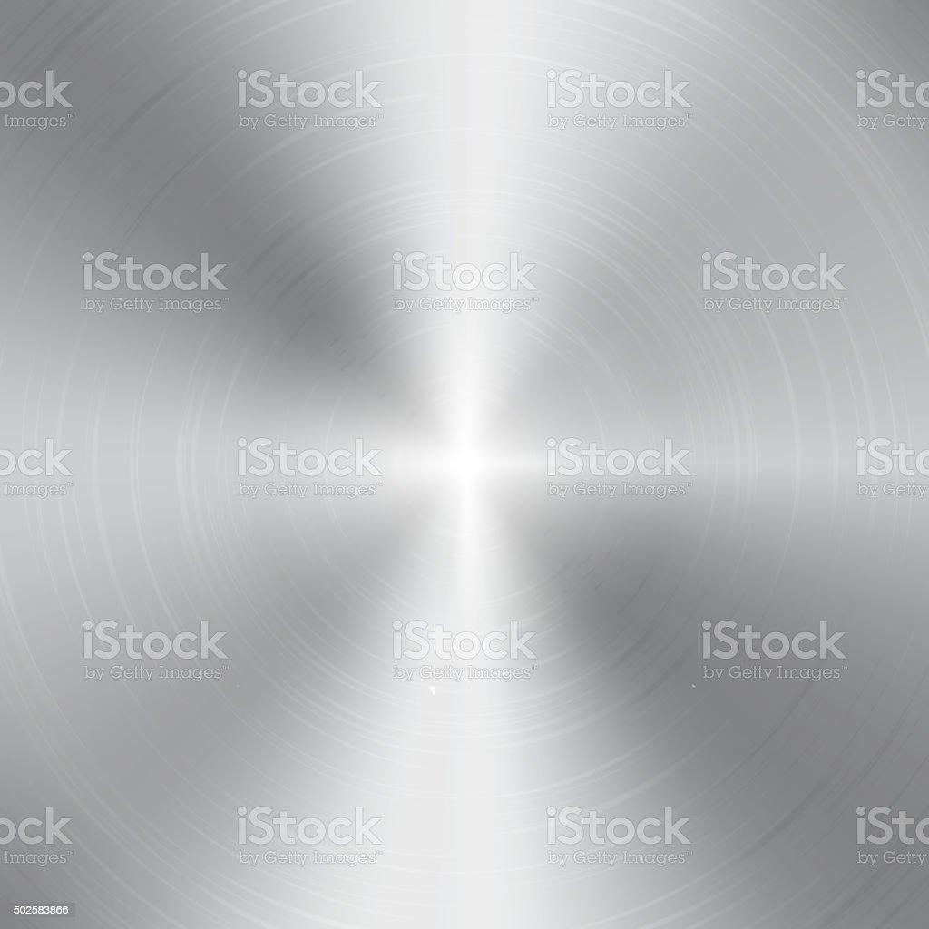 High contrast circular brushed aluminum texture vector art illustration