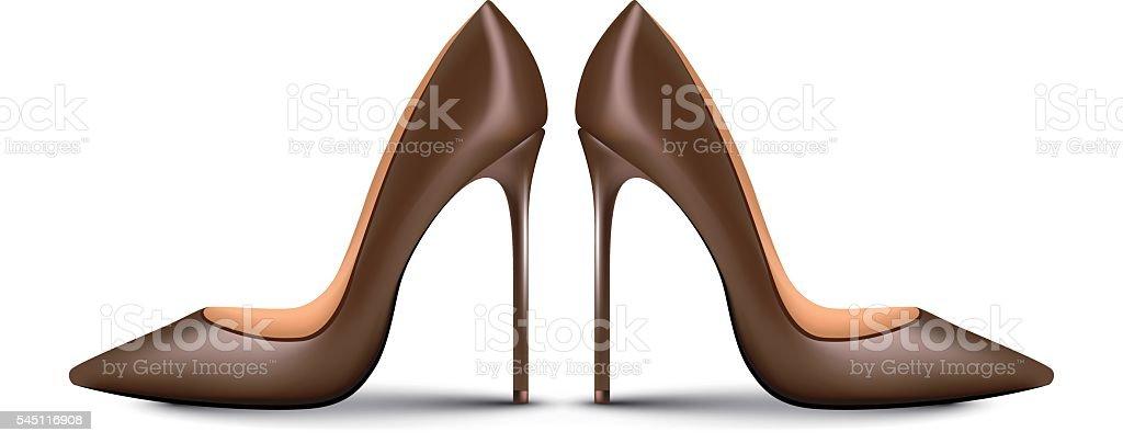High Heel Shoes for female vector art illustration