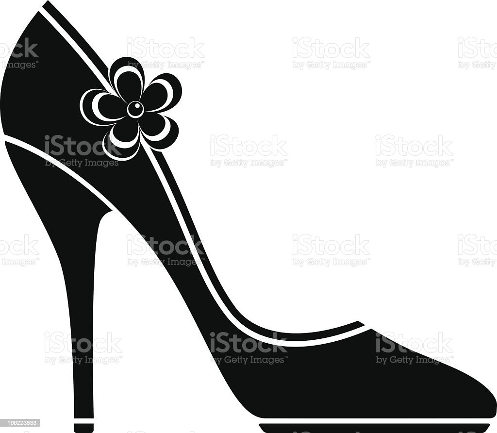 High heel shoes (silhouette) royalty-free stock vector art