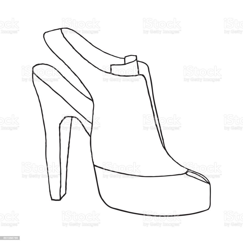 Shoe Drawing High Heel