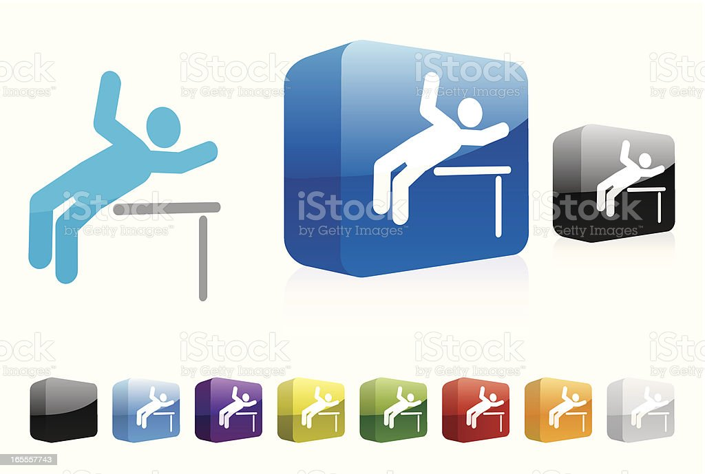 High Jump | 3D Collection royalty-free stock vector art