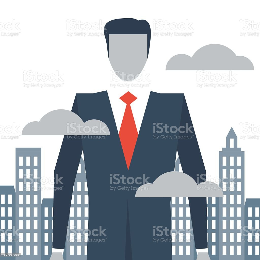 High position manager vector art illustration