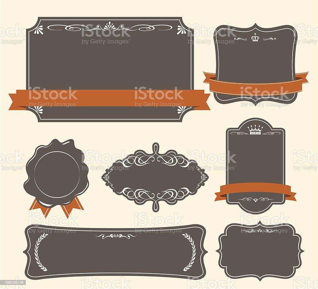 High quality & Premium labels set stock photo