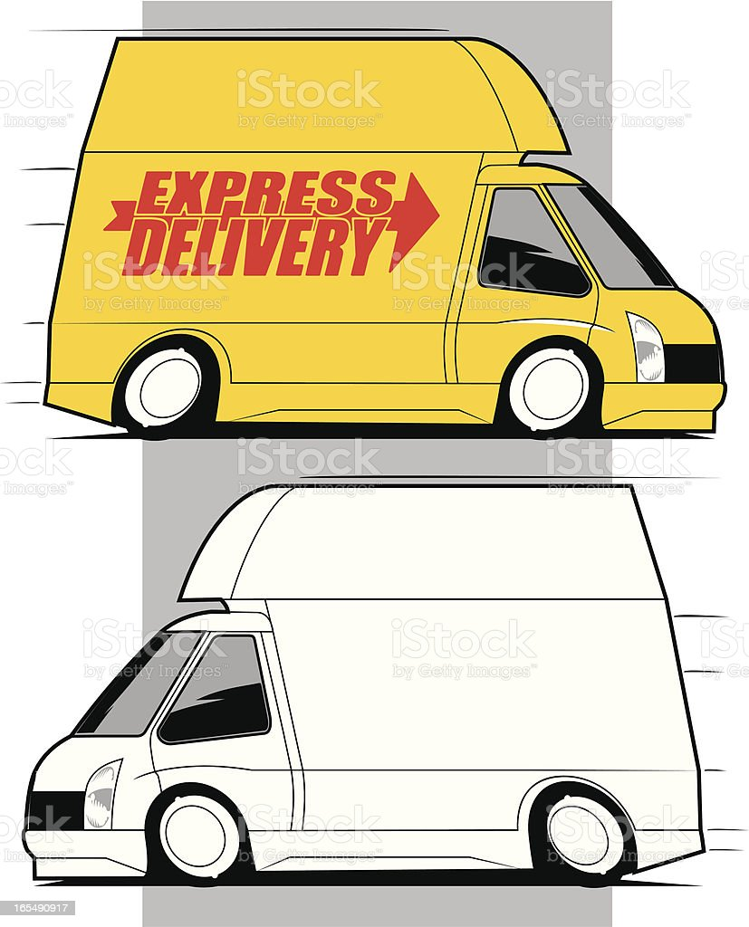 High Roof Delivery Van royalty-free stock vector art
