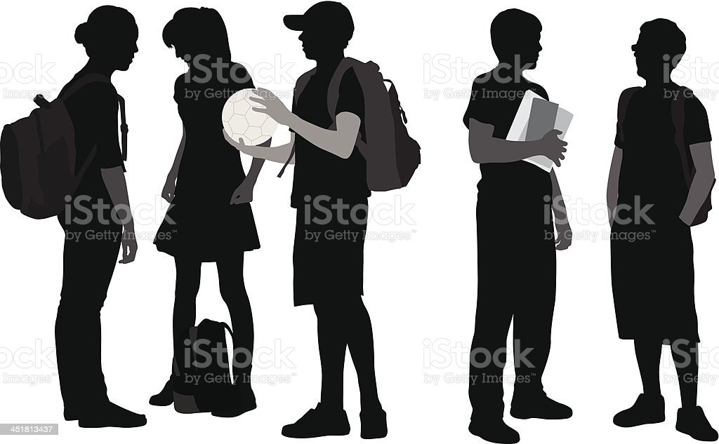 HighSchool royalty-free stock vector art
