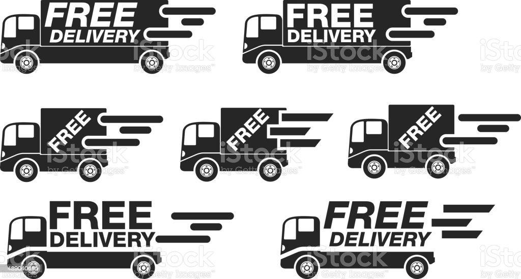 High Speed Delivery Van vector art illustration