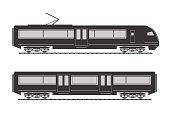 High speed train silhouette