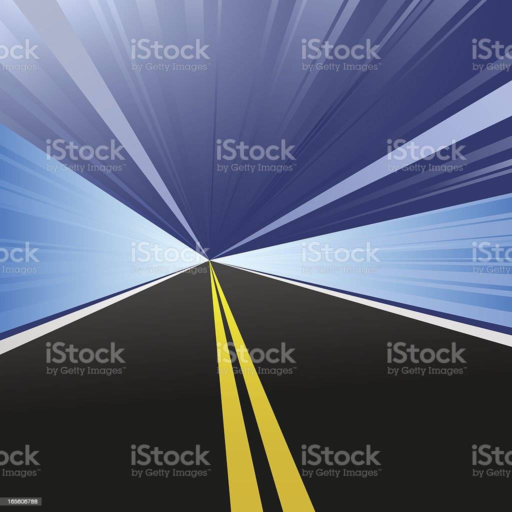 High Speed Tunnel Highway royalty-free stock vector art