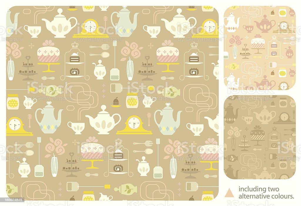 High Tea Pattern vector art illustration