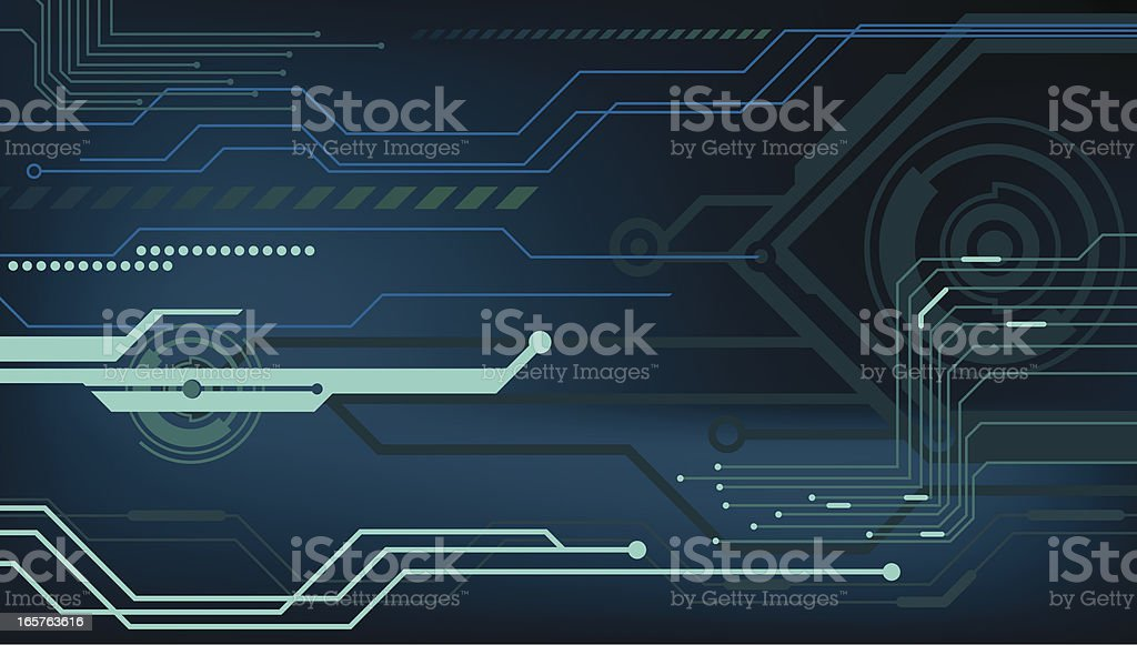 High tech background with blue hues vector art illustration