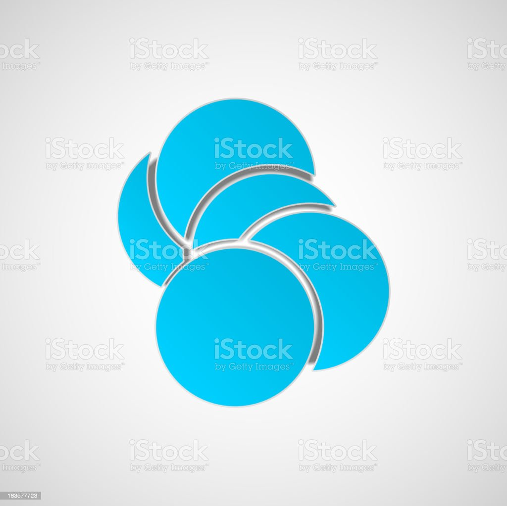 High Tech design for science royalty-free stock vector art