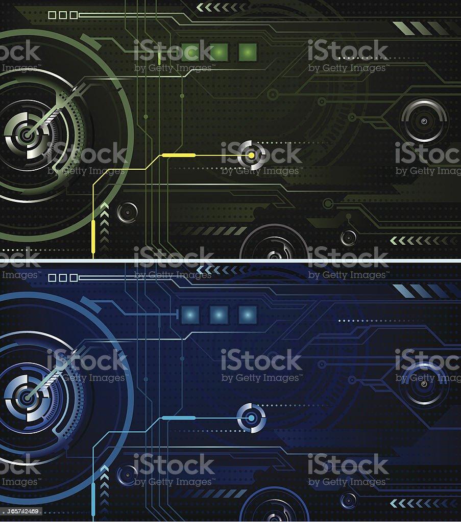 High tech Interface vector art illustration