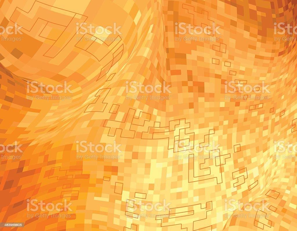 High Tech Orange royalty-free stock vector art