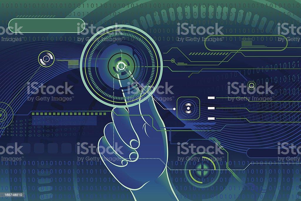 High tech touch screen royalty-free stock vector art