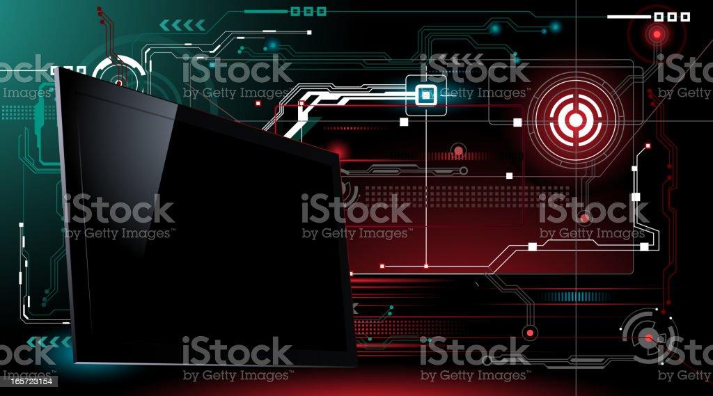 High Technology Television vector art illustration