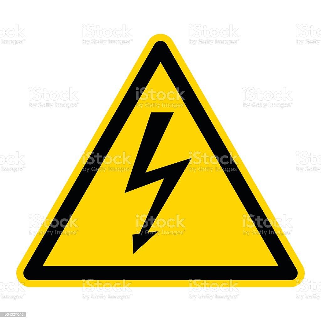 High Voltage Sign vector art illustration