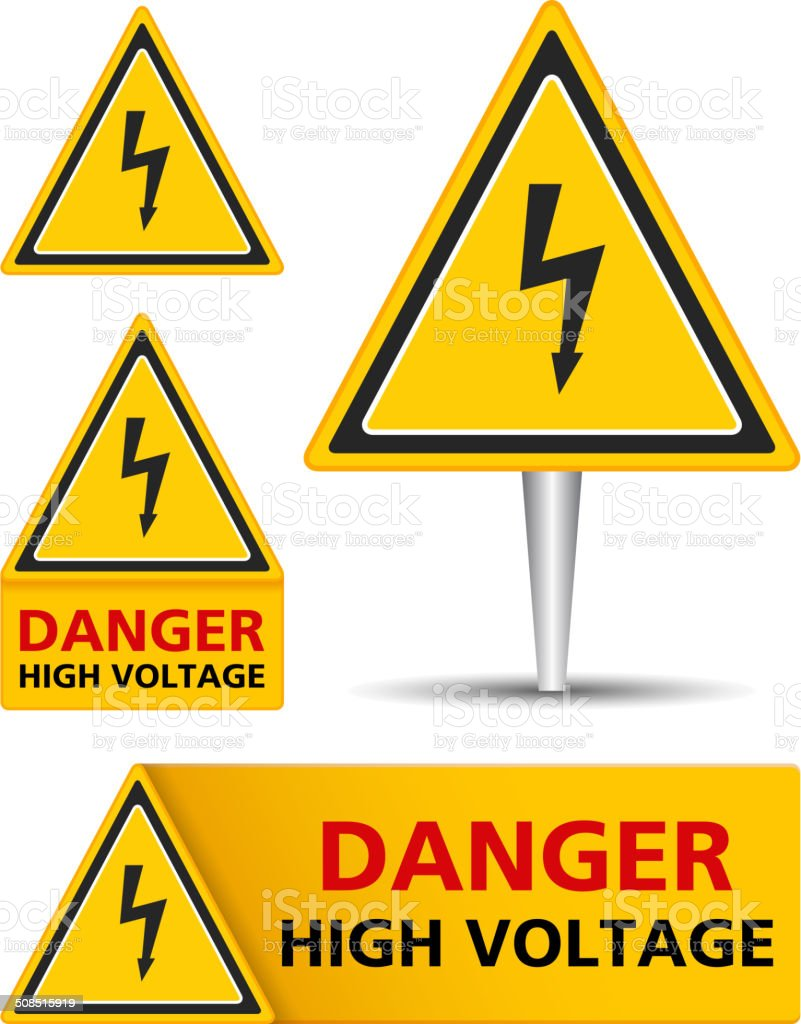 High Voltage Signs royalty-free stock vector art
