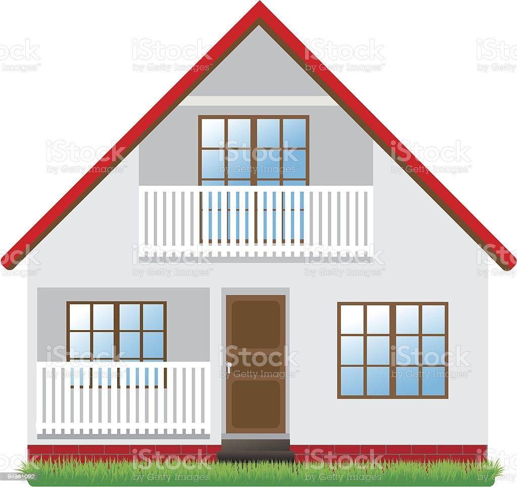 High-detailed vector house vector art illustration
