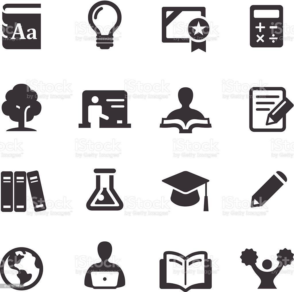 Higher Education Icons - Acme Series vector art illustration