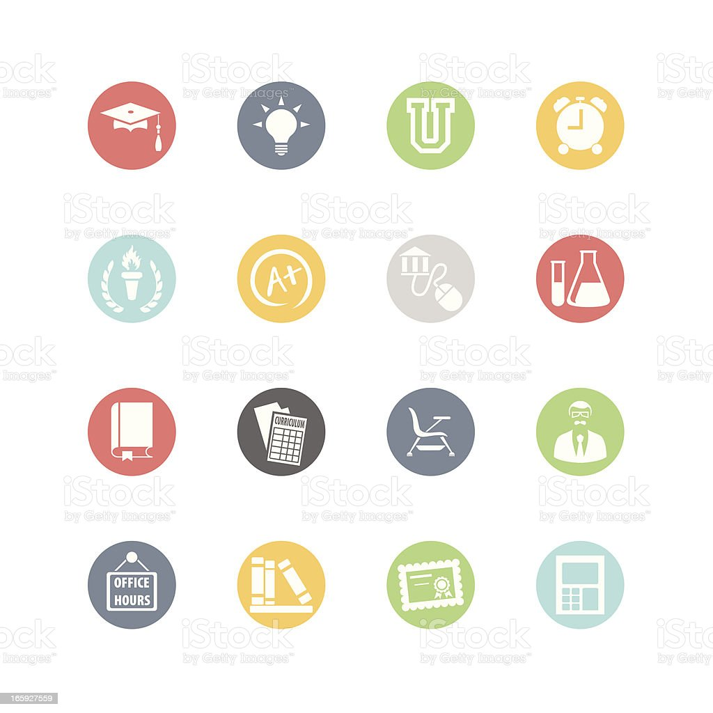 Higher Education Icons : Minimal Style royalty-free stock vector art