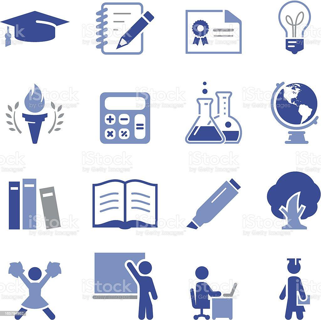 Higher Education Icons - Pro Series vector art illustration