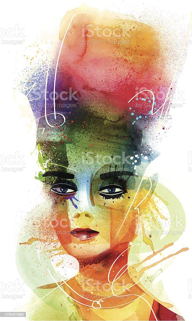 Higher Look vector art illustration